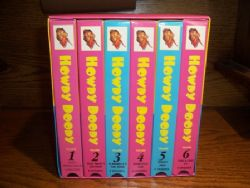 BOX SET of SIX VHS TAPES of CLASSIC Howdy Doody Collection